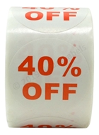 Picture of Discount Labels - 40% Off