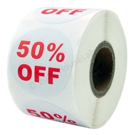 Picture of Discount Labels - 50% Off (72 Rolls - Free Shipping)
