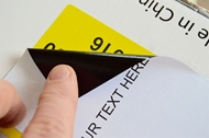 Picture of HouseLabels' brand – 1 Labels per Sheet – BLACKOUT Technology (Shipping Excluded)