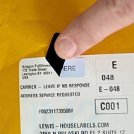 Picture of HouseLabels' brand – 80 Labels per Sheet – BLACKOUT Technology