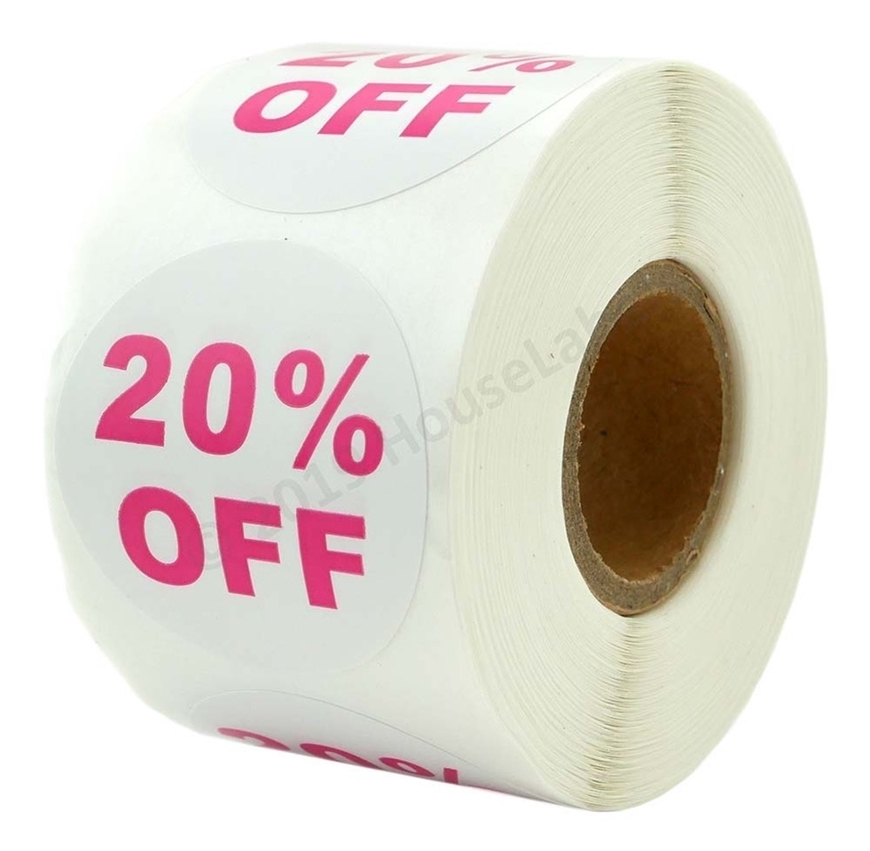 Picture of Discount Labels - 20% Off (2 Rolls - Free Shipping)