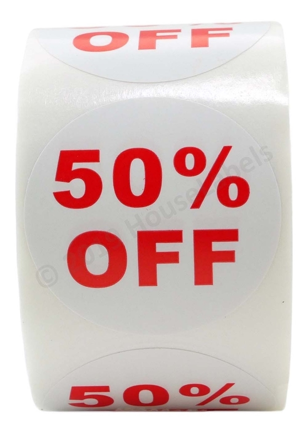 Picture of Discount Labels - 50% Off (2 Rolls - Free Shipping)