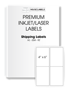Picture of Houselabels brand, LARGE FORMAT 4 labels per sheet