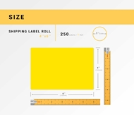 Picture of Zebra – 4 x 6 YELLOW (2 Rolls – Shipping Included)