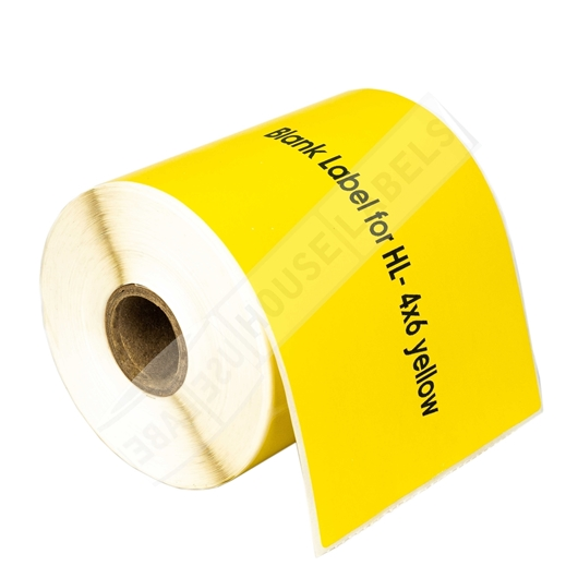Picture of Zebra – 4 x 6 YELLOW (15 Rolls – Shipping Included)