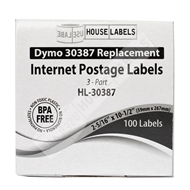 Picture of Dymo - 30387 3-Part Internet Postage Labels (8 Rolls – Shipping Included)