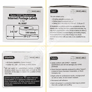 Picture of Dymo - 30387 3-Part Internet Postage Labels (12 Rolls – Shipping Included)