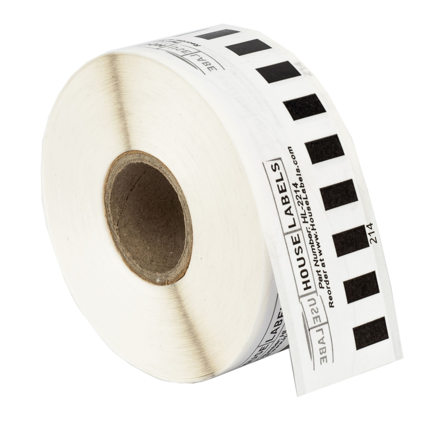 "Picture of BROTHER-Compatible DK-2214 Continuous Length Paper Tape (0.5"" 100'; 12mm 30.48m) -- BPA Free!"