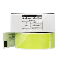 Picture of Dymo - 30252 GREEN Address Labels (100 Rolls - Shipping Included)