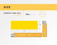 Picture of Dymo - 30252 YELLOW Address Labels (24 Rolls - Shipping Included)