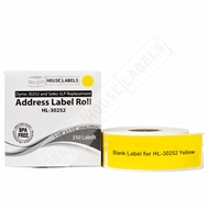 Picture of Dymo - 30252 YELLOW Address Labels (56 Rolls - Shipping Included)