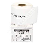 Picture of Dymo - 99019 1-Part eBay and PayPal Internet Postage Labels (8 Rolls – Shipping Included)