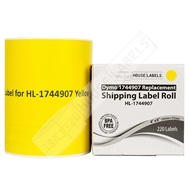 Picture of Dymo - 1744907 YELLOW Shipping Labels (20 Rolls - Shipping Included)