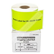 Picture of Dymo - 30256 GREEN Shipping Labels (12 Rolls – Shipping Included)