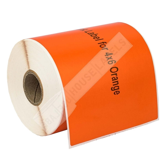 Picture of Zebra – 4 x 6 ORANGE (2 Rolls – Shipping Included)