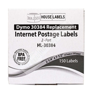 Picture of Dymo - 30384 2-Part Internet Postage Labels (25 Rolls – Shipping Included)