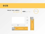 Picture of Dymo - 30373 Rat-tail Style Price Tag Labels