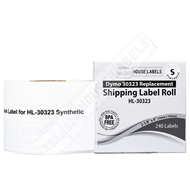 Picture of Dymo - 30323 Shipping Labels in Polypropylene (24 Rolls – Shipping Included)