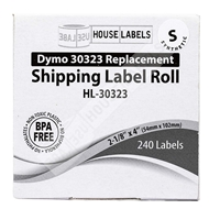 Picture of Dymo - 30323 Shipping Labels in Polypropylene (50 Rolls – Shipping Included)