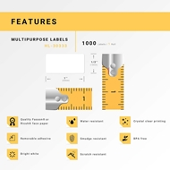 Picture of Dymo - 30333 Multipurpose Labels with Removable Adhesive (100 Rolls – Shipping Included)