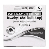 Picture of Dymo - 30299 Barbell-style Price Tag Labels in Polypropylene (8 Rolls – Shipping Included)