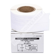 Picture of Dymo - 30277 File Folder 2-up Labels (100 Rolls – Shipping Included)