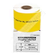 Picture of Dymo - 30323 YELLOW Shipping Labels (10 Rolls – Shipping Included)