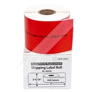 Picture of Dymo - 30256 RED Shipping Labels (18 Rolls – Shipping Included)