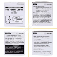 Picture of Dymo - 30327 File Folder Labels (100 Rolls – Shipping Included)