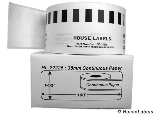 Picture of Brother DK-2225 (49 Rolls + Reusable Cartridge – Shipping Included)