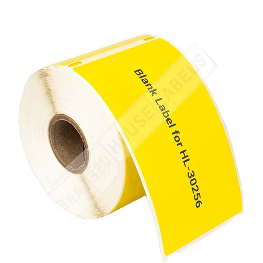 Picture of Dymo - 30256 YELLOW Shipping Labels with Removable Adhesive (18 Rolls – Shipping Included)