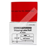 Picture of Dymo - 30256 RED Shipping Labels with Removable Adhesive (6 Rolls – Shipping Included)