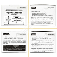 Picture of Dymo - 30256 ORANGE Shipping Labels with Removable Adhesive