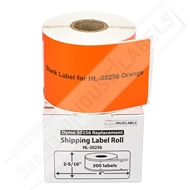 Picture of Dymo - 30256 ORANGE Shipping Labels with Removable Adhesive (18 Rolls – Shipping Included)