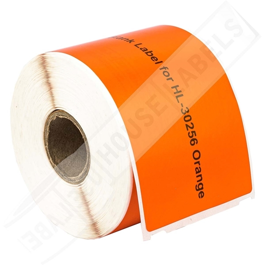 Picture of Dymo - 30256 ORANGE Shipping Labels with Removable Adhesive (34 Rolls – Shipping Included)