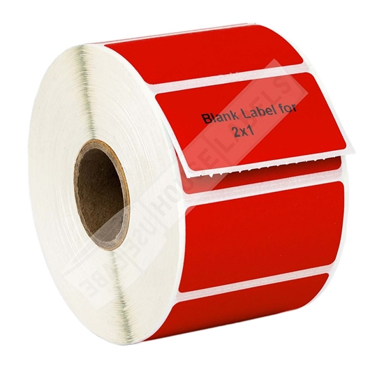 Picture of Zebra – 2 x 1 RED (50 Rolls – Shipping Included)