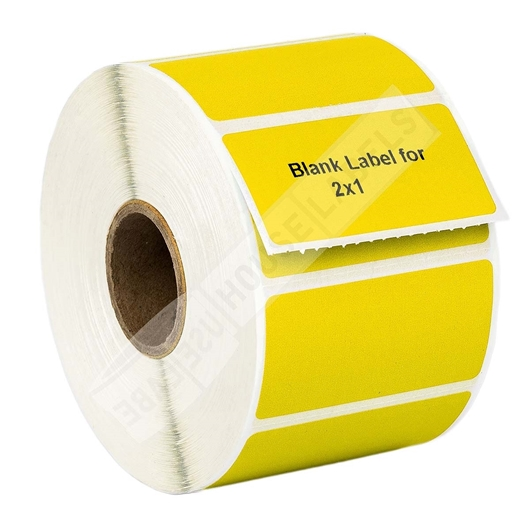 Picture of Zebra – 2 x 1 YELLOW (100 Rolls – Shipping Included)