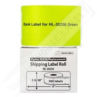 Picture of Dymo - 30256 GREEN Shipping Labels with Removable Adhesive (6 Rolls – Shipping Included)