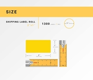 Picture of Zebra – 2 x 1 YELLOW (50 Rolls – Shipping Included)