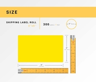 Picture of Zebra – 3 x 5 YELLOW (20 Rolls – Shipping Included)
