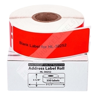 Picture of Dymo - 30252 RED Address Labels (6 Rolls - Shipping Included)