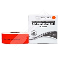 Picture of Dymo - 30252 RED Address Labels (100 Rolls - Shipping Included)