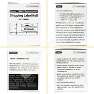 Picture of Dymo - 1744907 ORANGE Shipping Labels