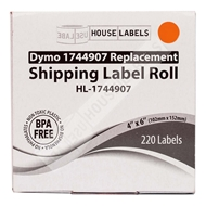 Picture of Dymo - 1744907 ORANGE Shipping Labels (2 Rolls - Shipping Included)
