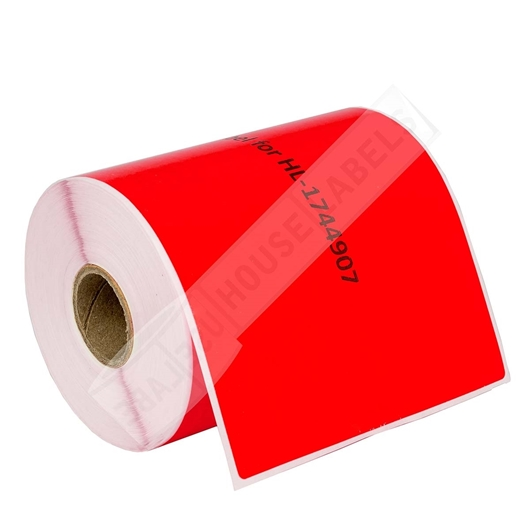 Picture of Dymo - 1744907 RED Shipping Labels (6 Rolls - Shipping Included)