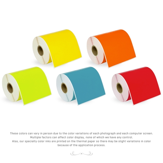 Picture of Dymo - 1744907 Color Combo Pack (4 Rolls - Your Choice - Yellow, Green, Blue, Orange, Red) with Shipping Included