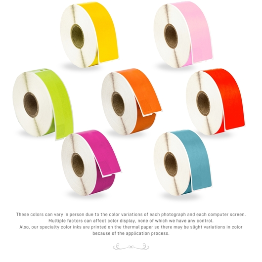 Picture of Dymo - 30252 Color Combo Pack (100 Rolls - Your Choice - Blue, Green, Orange, Pink, Purple, Red and Yellow) with Shipping Included