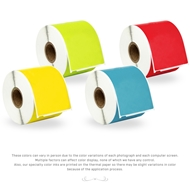 Picture of Dymo - 30256 Color Combo Pack (12 Rolls - Your Choice - Blue, Green, Orange, Pink, Lavender, Red and Yellow) with Shipping Included