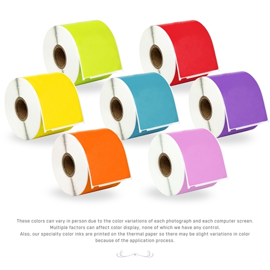 Picture of Dymo - 30256 Color Combo Pack (50 Rolls - Your Choice - Blue, Green, Orange, Pink, Lavender, Red and Yellow) with Shipping Included