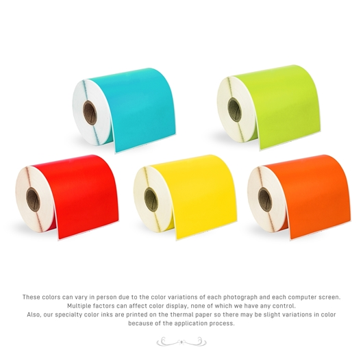 Picture of Zebra – 4 x 6 COMBO PACK (15 Rolls – Your Choice – BLUE, GREEN, YELLOW, RED, ORANGE – Shipping Included)